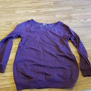 Victoria's secret purple sweatshirt size L